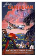 Vintage travel poster, Caribbean, USA